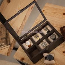Шкатулка для часов деревянная 6 отделений