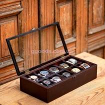 Коробка для часов деревянная на 10 отделений