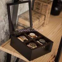 Органайзер для часов на 4 экземпляра деревянный