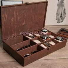Футляр-органайзер для аксессуаров и часов на 12 отделений