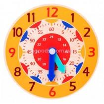 Часы обучающие для детей желтые