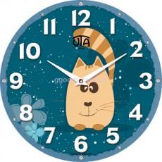 """Настінний годинник MINI """"Рудий кіт"""""""