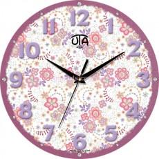 """Настінний годинник MINI """"Фіолетові квіти"""""""