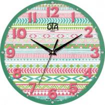 """Настінний годинник MINI """"Різнобарвні візерунки"""""""