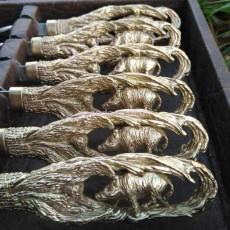 Шампура Кабаны в кожаном чехле