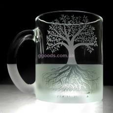Чашка с гравировкой Дерево Жизни
