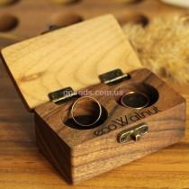 Коробочка для свадебных колец деревянная