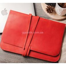 Папка-скоросшиватель для бумаг кожаная красная