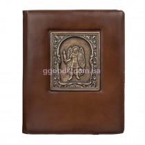 Блокнот А4 со сменной обложкой Архангел Михаил коричневый