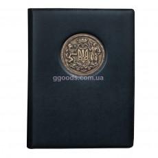 Кожаный еженедельник Большой Герб Украины от Privilege Handmade