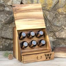 Коробочка для часов Элит с деревянной крышкой на 6 отделений