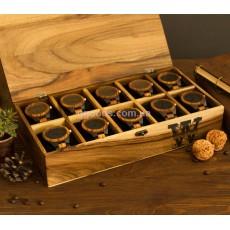 Шкатулка для часов с деревянной крышкой 10 отделений