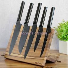 Магнитная подставка для ножей из дерева