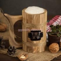 Пивной бокал деревянный сегментный