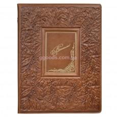 Папка светло-коричневая Лавр (кожа)