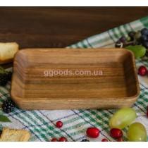 Деревянное блюдо для закусок 19,5х14 см