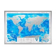 Скретч карта мира на английском языке Discovery Map