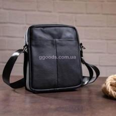 Мужская сумка через плечо черная