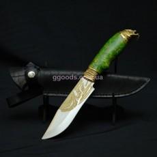 Нож Хищник с зеленой рукоятью