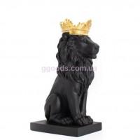 Статуэтка Лев черный в золотой короне
