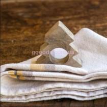 Кольца для салфеток новогодние Елочка 4 шт