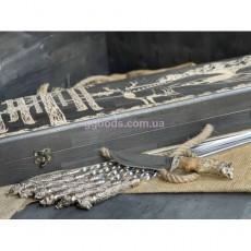 Набор шампуров Дикие звери с ножом в кейсе с гравировкой