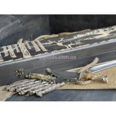 Шампура Дикие звери с ножом и вилкой в кейсе с гравировкой