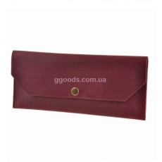 Клатч кожаный бордовый Виноград