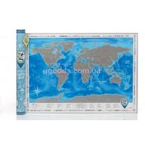 Скретч карта мира на украинском языке