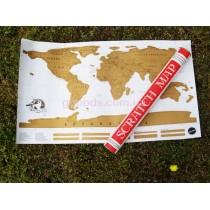 Скретч карта мира Scratch Map на английском языке