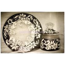 Набор тарелка и сахарница «Нежность в руках»
