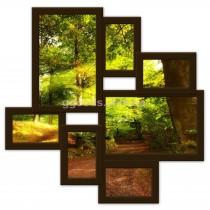 Фоторамка деревянная на 7 фото Волна Любви