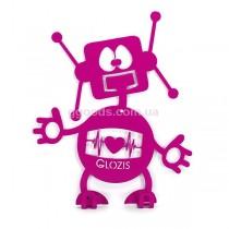 Настенная вешалка Робот фиолетовая