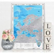 Туристична скретч-карта Європи англійською мовою