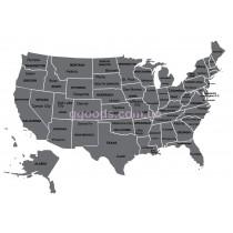 Скретч-карта США