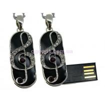 Флешка Скрипичный Ключ фиолетовый 4 Гб, 8 Гб, 16 Гб, 32 ГБ