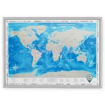 Скретч-карта мира в раме