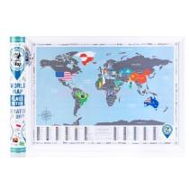Скретч карта мира Flags Edition