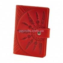 Кожаная обложка для паспорта Инди Коралл