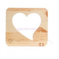 Ночник деревянный Сердце