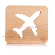 Деревянный ночник Самолет