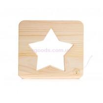 Деревянный ночник Звезда